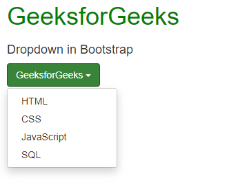 Bootstrap (Part-5) | DropDowns and Responsive Tabs - GeeksforGeeks