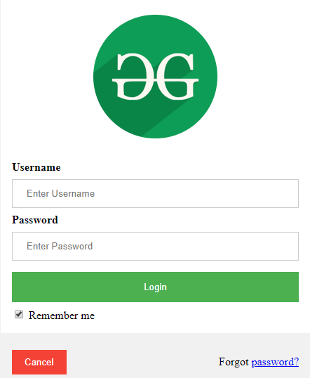 HTML   Responsive Modal Login Form - GeeksforGeeks
