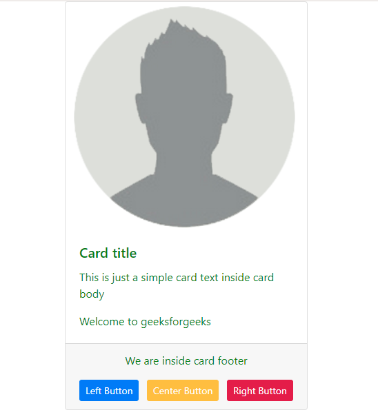 how to align buttons in card footer in bootstrap