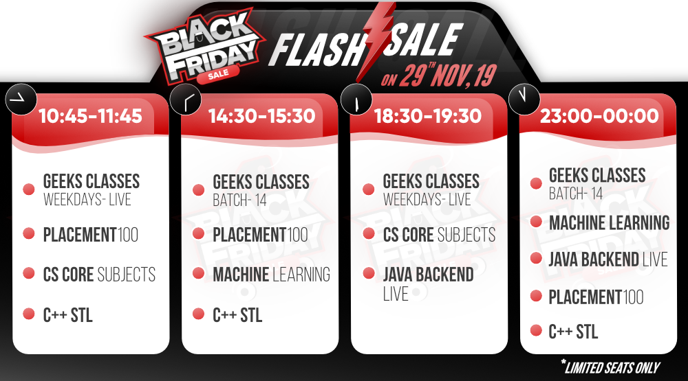GeeksforGeeks-Black-Friday-Flash-Sale