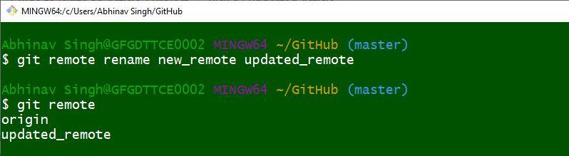 Renaming Existing Repository