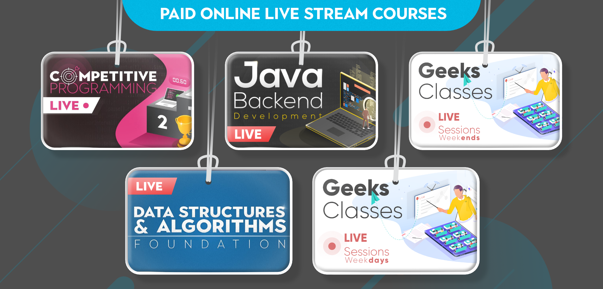 GeeksforGeeks-Paid-Online-Livestream-Courses