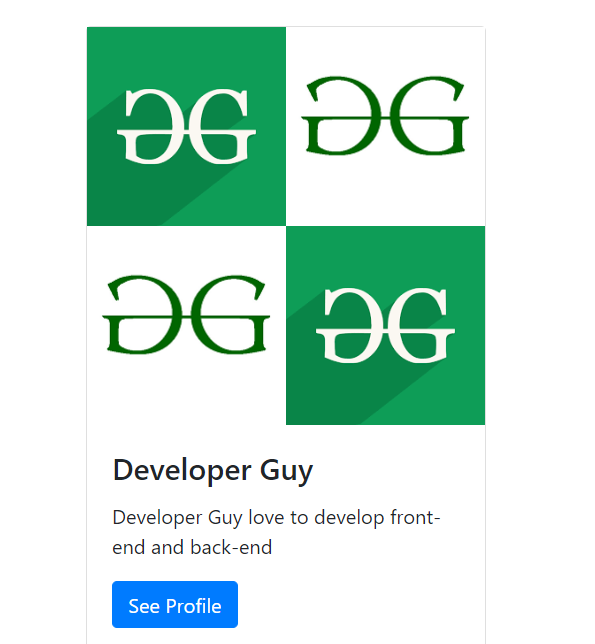 How To Use Grid For Images In Bootstrap Card ?