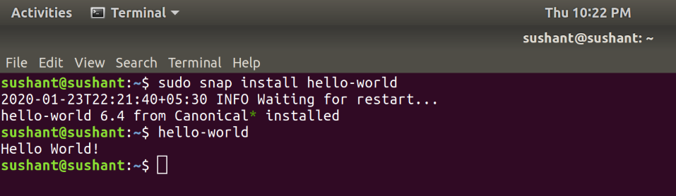 hello-world-snap-command