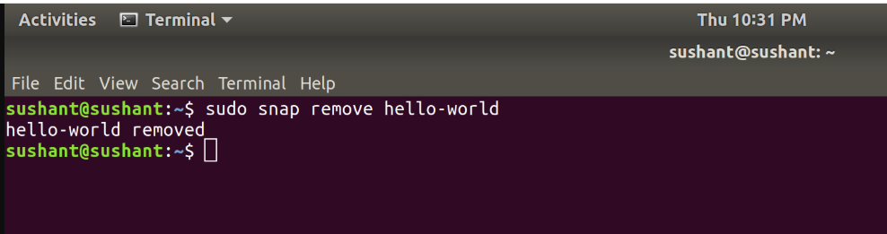 Removing-Applications-Snap-Package-Manager