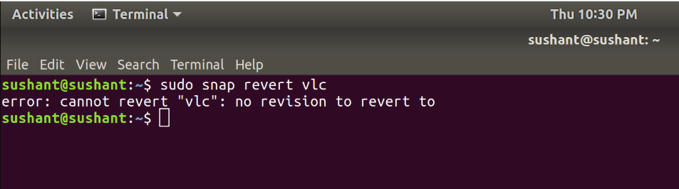 Revert-Updated-Applications-Snap-Package-Manager