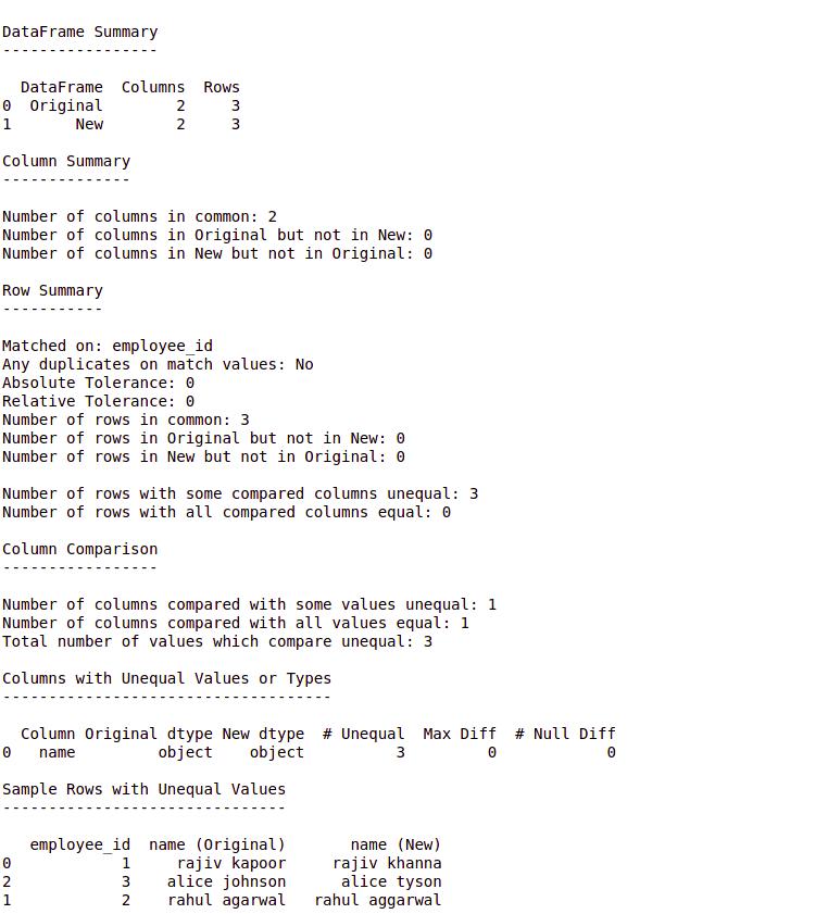python-datacompy