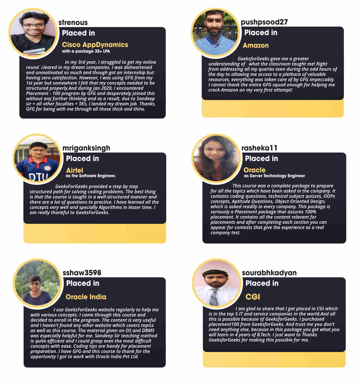 Complete-Interview-Preparation-GeeksforGeeks-Course-Testimonials