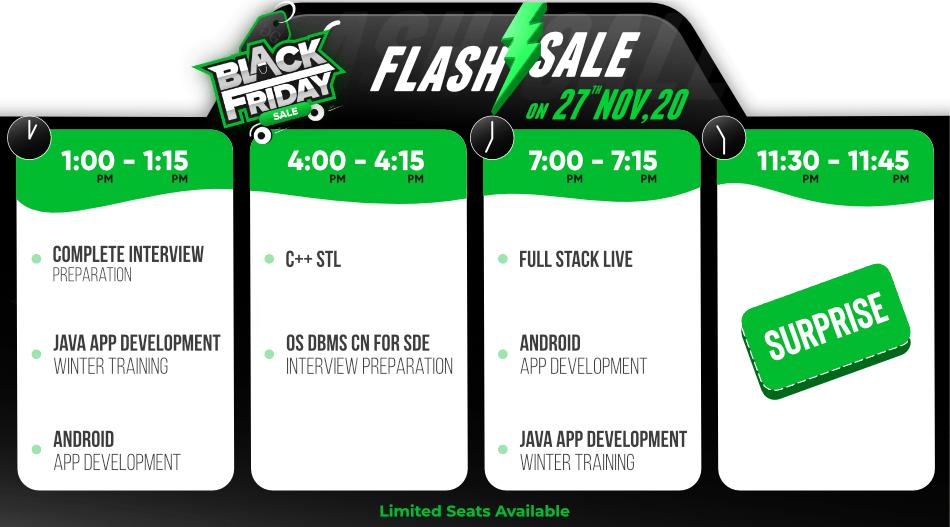 Black-Friday-Sale-Flash-Sale-on-GeeksforGeeks-Courses