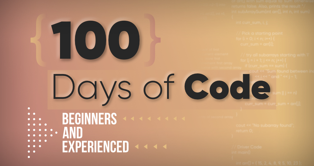 100 Days of Code - GeeksforGeeks