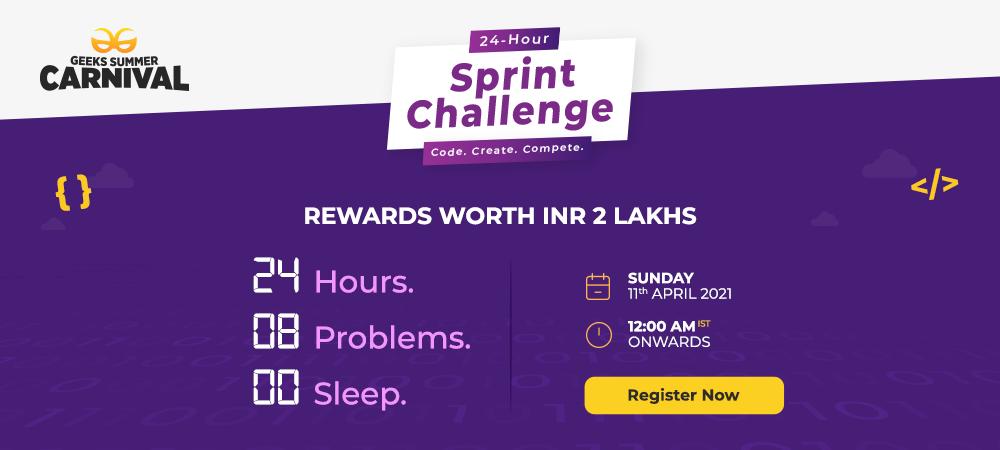 GeeksforGeeks-24-Hour-Sprint-Challenge