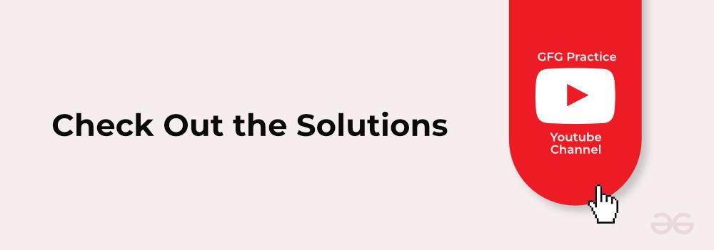 GeeksforGeeks-Interview-Series-Solutions
