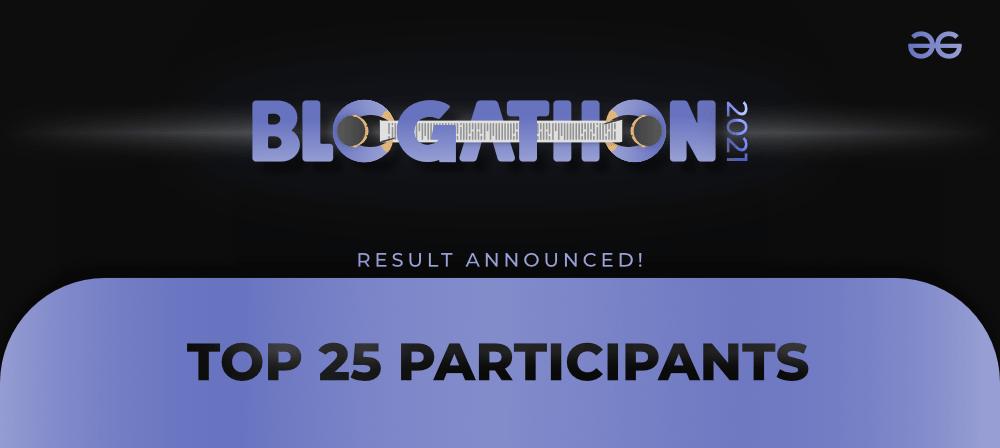 Blogathon-2021-Result-GeeksforGeeks