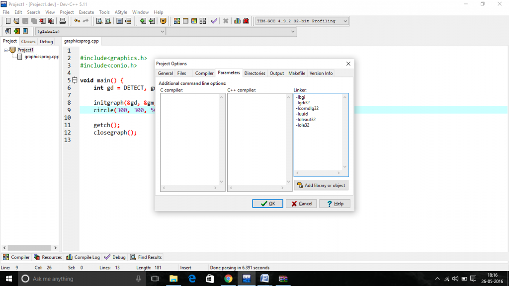 Basic Graphic Programming in C++