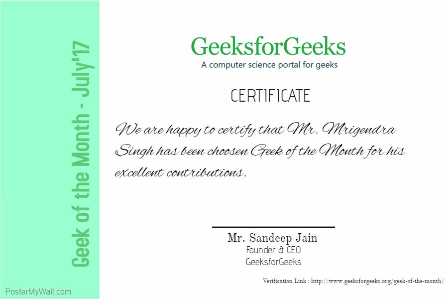 Geek of the Month - GeeksforGeeks