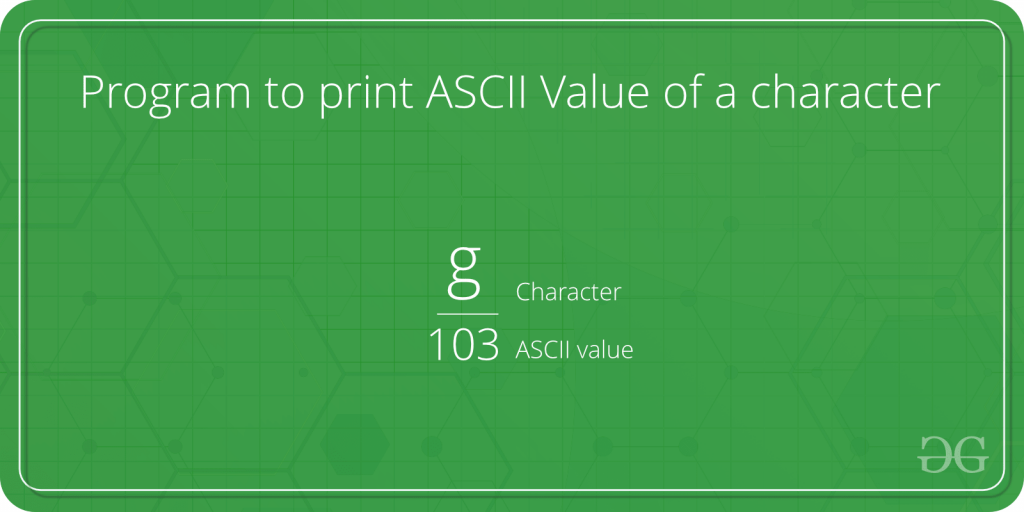 graphic regarding Non Printable Ascii Characters called Software program toward print ASCII Well worth of a individuality - GeeksforGeeks