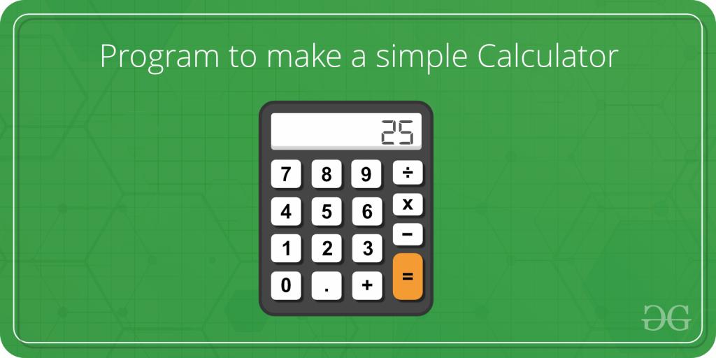 write a calculator program