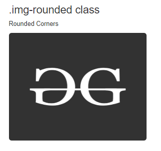 image rounded class