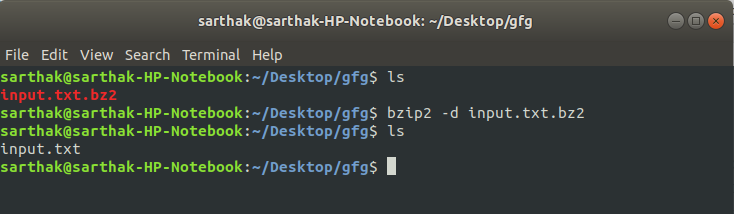 bzip2 command in Linux with Examples - GeeksforGeeks