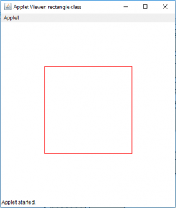 Draw a ellipse and a rectangle in Java Applet - GeeksforGeeks