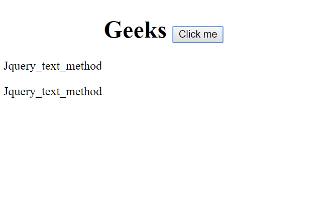 jQuery   text() Method - GeeksforGeeks