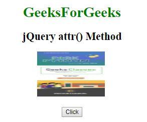 jQuery | attr() Method - GeeksforGeeks