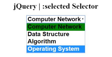 jQuery | :selected Selector - GeeksforGeeks