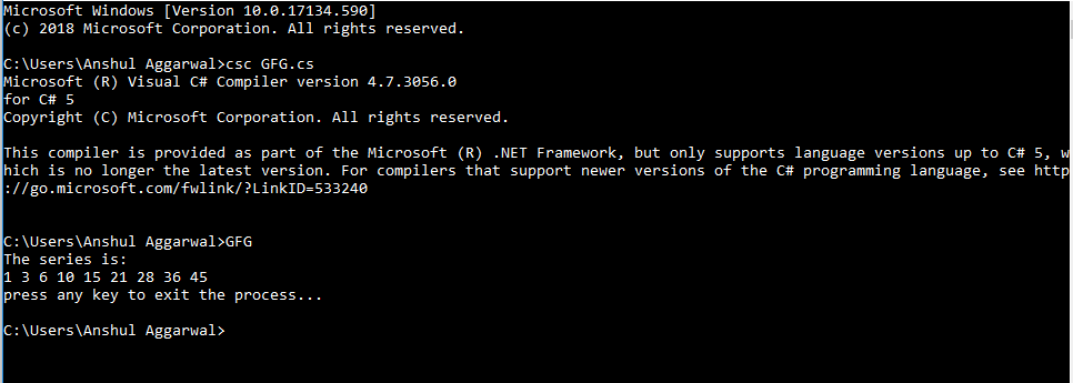 Console ReadKey() Method in C# - GeeksforGeeks