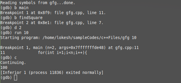 gdb command in Linux with examples - GeeksforGeeks