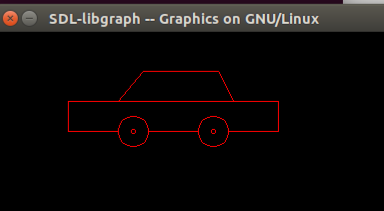 Draw a moving car using computer graphics programming in C