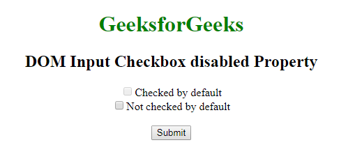 HTML | DOM Input Checkbox disabled Property - GeeksforGeeks