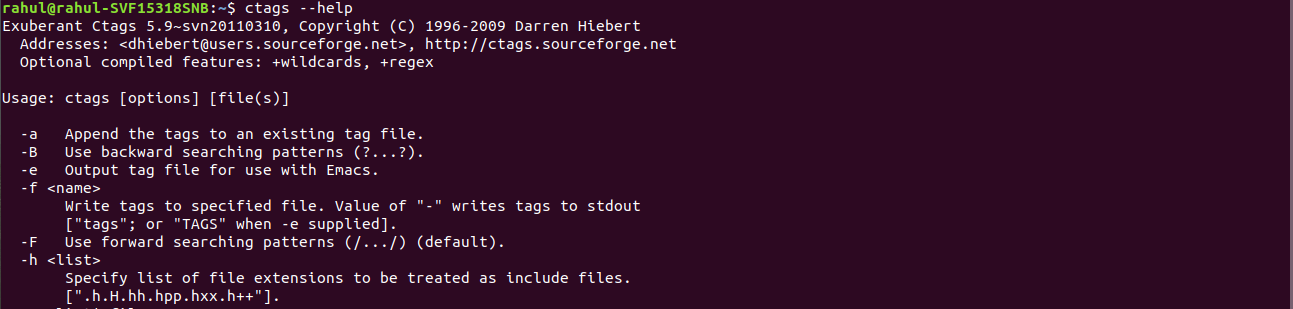 ctags command in Linux with examples - GeeksforGeeks