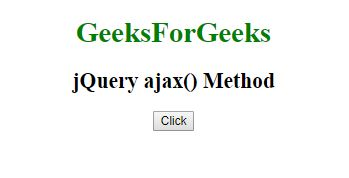 jQuery | ajax() Method - GeeksforGeeks