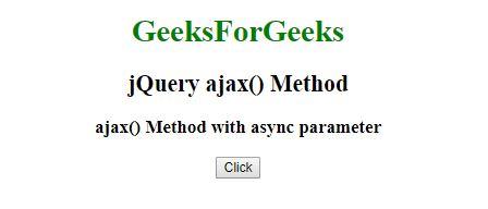 jQuery | ajax() Method - GeeksforGeeks