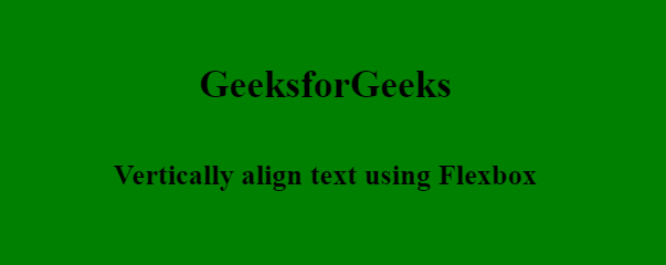 How to vertically align text inside a flexbox using CSS