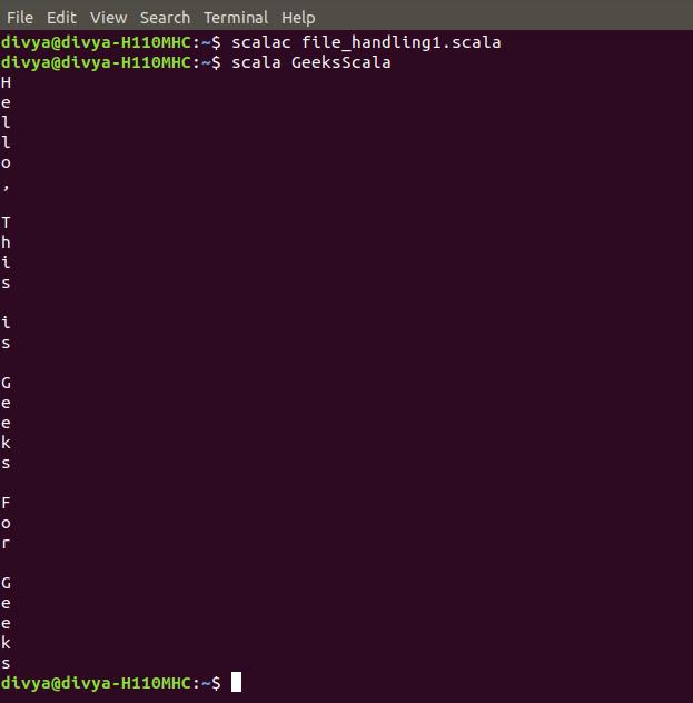 File Handling in Scala - GeeksforGeeks