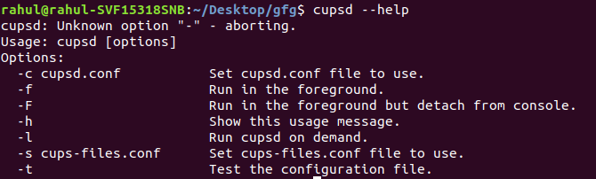 cupsd command in Linux with examples - GeeksforGeeks