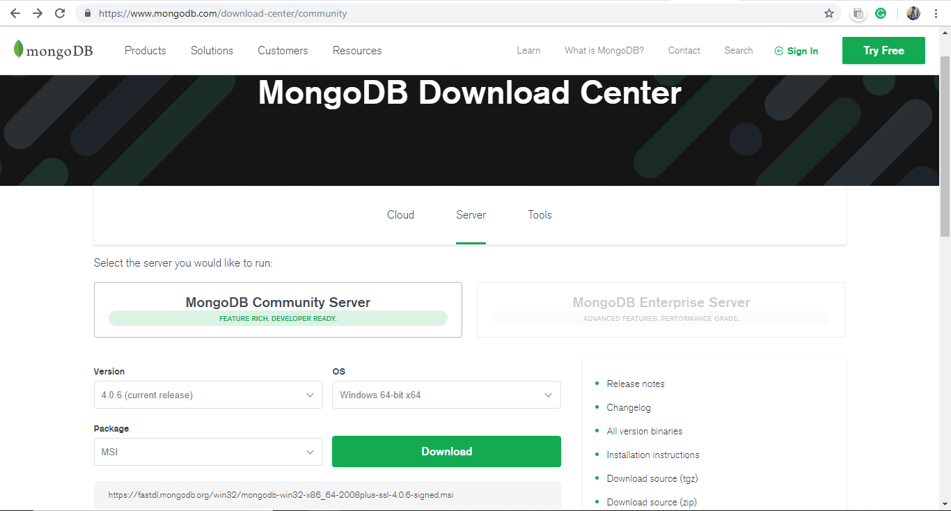 Introduction about Node js and MongoDB - GeeksforGeeks