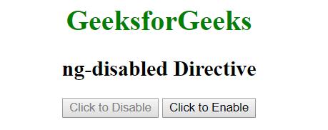 AngularJS | ng-disabled Directive - GeeksforGeeks