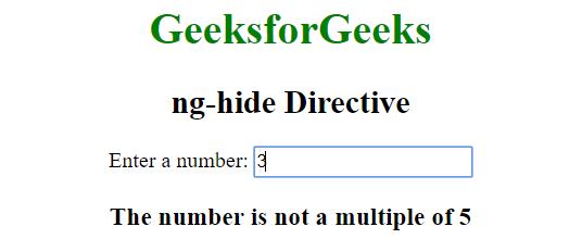 AngularJS | ng-hide Directive - GeeksforGeeks
