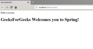 Spring MVC with JSP View - GeeksforGeeks
