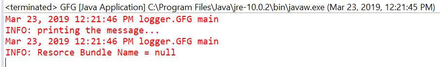 Logger getResourceBundleName() method in Java with Examples