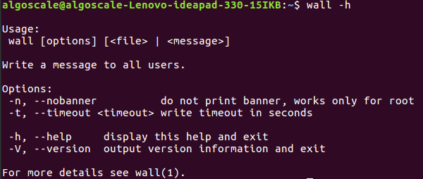 wall command in Linux with Examples - GeeksforGeeks