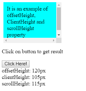 offsetWidth, clientWidth, scrollWidth and Height, respectively in