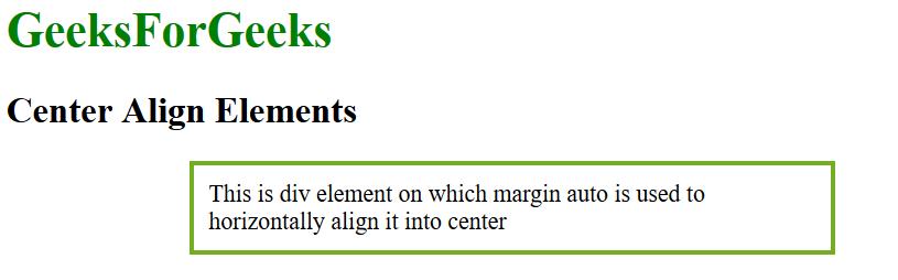 CSS | Align - GeeksforGeeks