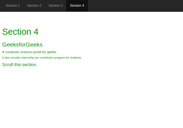 Bootstrap | Scrollspy - GeeksforGeeks