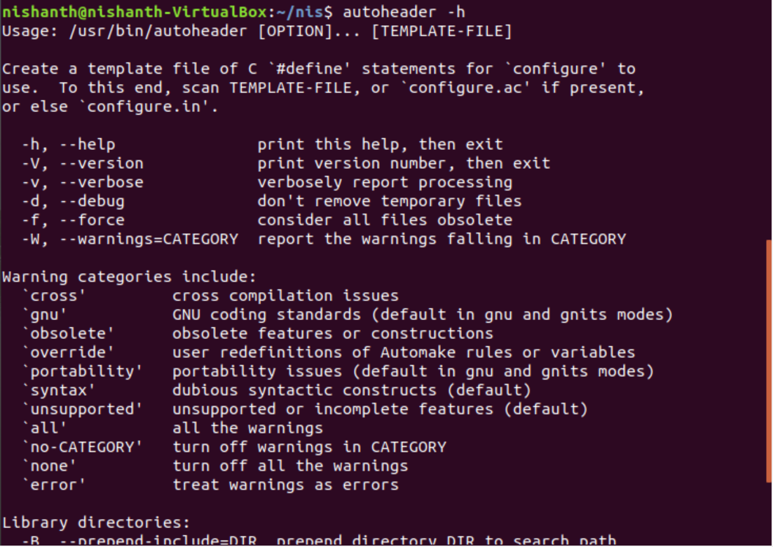 autoheader command in Linux with Examples - GeeksforGeeks