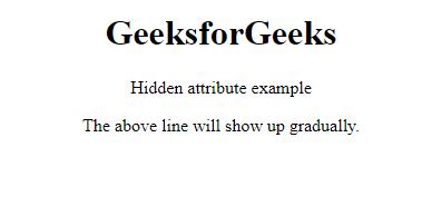 jQuery   :hidden Selector - GeeksforGeeks
