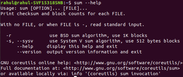 sum command in Linux with Examples - GeeksforGeeks