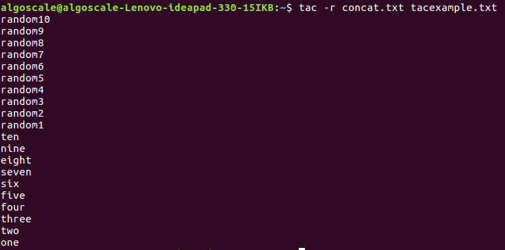 tac command in Linux with Examples - GeeksforGeeks